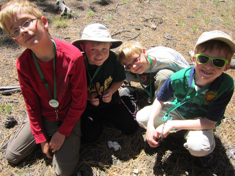 PEEC campers explore the Valles Caldera